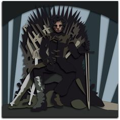 Commission: Jon Snow Shadowbox Mock-up by The-Paper-Pony on DeviantArt