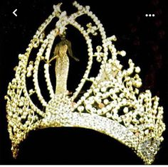 Pageant Crowns, Tiaras And Crowns, Miss Universe Crown, Imperial Crown, Miss World, Pearl Set, Beauty Pageant, Crown Jewels, Beauty Queens