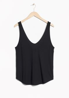 Tops & t-shirts - & Other Stories My Spring, Spring Summer 2016, Black Tank Tops, Basic Tank Top, Ready To Wear, Turtle Neck, Hoodies, How To Wear, T Shirt