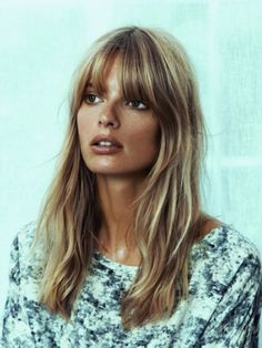 Blonde fringe hairstyles, hairstyles with bangs, hairstyles, blon Diy Hairstyles, Pretty Hairstyles, Blonde Fringe Hairstyles, 1960s Hairstyles, Hairstyle Ideas, Blonde Hair Fringe, Blonde Bangs, Easy Hairstyle, Good Hair Day