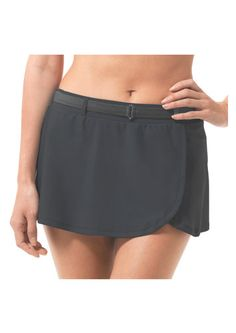A flirty and flattering wrap design look that helps hide hips and thighs for the beach or poolside. Swim Skirt, Women's Swimwear, Swim Bottoms, Tankini, Thighs, Casual Shorts, Swimming, Stylish, Beach