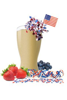 Berryworks Shakeology  Celebrate Independence Day with this red, white, and blue shake!
