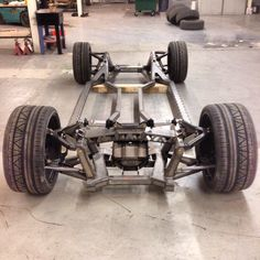 Full custom chassis built by Resto Motors in Denver for old Mopar muscle cars with IFS and IRS