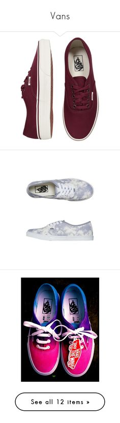 """""""Vans"""" by cheyenne-173 ❤ liked on Polyvore featuring shoes, sneakers, vans, sapatos, vans sneakers, vans trainers, unisex shoes, vans shoes, vans footwear and zapatillas"""