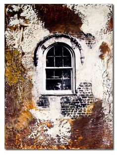 I think I'm attracted to encaustic because I love the ancient plaster/brick grunge of Moroccan architecture. Excited about the possibilities combining images/drawings of Arab architecture with encaustic simulated grunge!