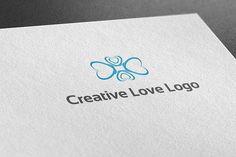 Creative Love Logo by BdThemes on @creativemarket