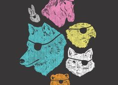 Animals with Eyepatches! Yes! by Laser Bread | Threadless