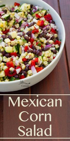 Mexican Corn Salad is a great healthy side dish or even a dip to serve with chips! Perfect for any party or gathering Mexican Corn Salad is a great healthy side dish or even a dip to serve with chips! Perfect for any party or gathering Taco Side Dishes, Party Side Dishes, Mexican Side Dishes, Side Dish Recipes, Food Dishes, Side Dishes With Tacos, Healthy Sides, Healthy Side Dishes, Healthy Recipes