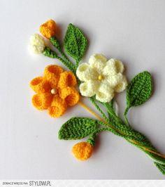Crochet appliques fleurs et feuilles de définir par Cra…