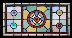 Victorian stained glass with rondels