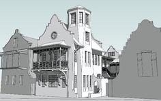 Domin Bock rosemary beach home study model