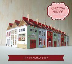 Advent Calendar Printable Christmas Village by LittleLlamaShoppe