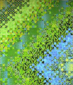 PDF Pattern  Gabriella's Garden quilt by vintagegirl on Etsy, $9.00  Watercolor quilt