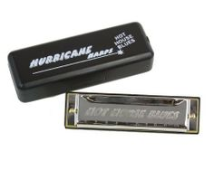 """Hurricane Harps, """"Hot House Blues"""" Harmonica, 10 Hole Diatonic, Key of Eb by Hurricane Harps. $6.99. Hurricane Harps - """"Hot House Blues"""" harmonicas are great harmonicas designed to get players started with high quality harps at a reasonable price.  They feature solid brass reedplates, ABS combs and sturdy chrome plated cover plates.  They play and feel like other brands costing twice the price.  Pick up one or a whole set and see what we mean.  Also available in a chromat..."""