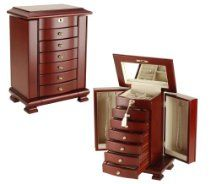 Seya Cherry Wooden Jewelry Box Armoire