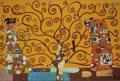 Árbol de la vida Klimt Bastidor 40x60cm.