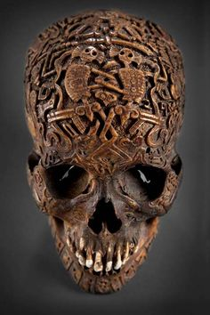 Front view of the mysterious carved skull. (Klemens) The Carved Skull is a Rare Artifact As one can see, little is known about this skull. Unfortunately, its private ownership limits the ability of experts and academics to study it. While carved skulls are not unheard of, they are exceedingly rare. And one created with this level of skill and religious meaning is certainly a treasure.