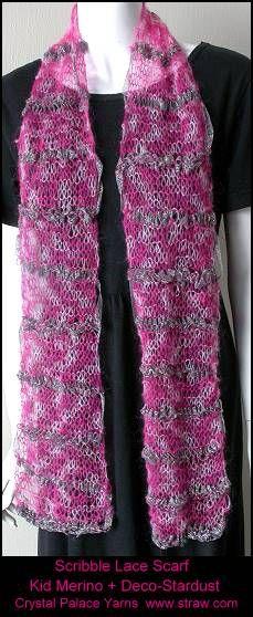 so pretty - lace weight scarf knitting pattern free on Ravelry. I think I hav...