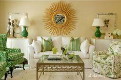Bold, contemporary formal living room...  Design: Tobi Fairley