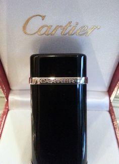 Cartier Lighter  Designer  Platinum  Black Lacquer New Old