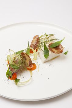 Halibut and confit duck egg - one of the recipes featured in Burnt, starring Bradley Cooper and Sienna Miller