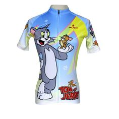 6e4fdd23b Ilpaladino Tom And Jerry Cats and Mouses Woman s Short Long-sleeve Bike  Shirt Cycling