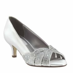 Dyeables Formal and Bridal Open Toe Tracy with Modest Heel. Comfortable Fashion