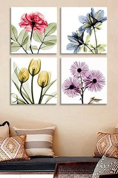 Glam Living Room Wall Decor - Beautiful Living Room decorating ideas for any color Wall Art Sets, Framed Wall Art, Canvas Wall Art, Frames On Wall, Wall Painting Frames, Room Wall Decor, Diy Wall Decor, Floral Wall Art, Modern Wall Art