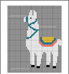 alpaca graphic – crochet templates for blankets and pillows … – # … - Knitting Charts Cross Stitch Designs, Cross Stitch Patterns, Quilt Patterns, Loom Patterns, Loom Beading, Beading Patterns, Knitting Charts, Knitting Patterns, Cross Stitching