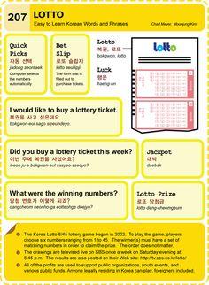 207 Learn Korean Hangul Lotto (Lottery)