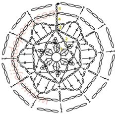 to crochet around a stone Crochet Tutorial, Crochet Diagram, Crochet Chart, Thread Crochet, Crochet Motif, Crochet Doilies, Crochet Stitches, Crochet Christmas Decorations, Crochet Ornaments