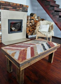 Handmade Industrial vintage farmhouse Rustic unique farmhouse style multicolor Shabby Chic Coffee Table Reclaimed wood Decor Handmade by MadeFromWoodDesigns on Etsy https://www.etsy.com/listing/489722940/handmade-industrial-vintage-farmhouse