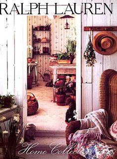 "Ralph Lauren Home Archives, Doorway detail, Unknown Collection, 1986 (photo from ebay seller ""adenthusiast"""
