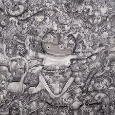 OBE | Graphite, Ink on Canvas |Cm. 60x60x4,5| 2012| #Arte #Art #Pop