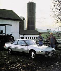 "1985 Magazine ""Son, I thought you were going to buy a Subaru."" ""But Dad, I did. Subaru Logo, Subaru Xt, Subaru Cars, Jdm Cars, Vintage Advertisements, Vintage Ads, Mitsubishi Motors, Transporter, Commercial Vehicle"