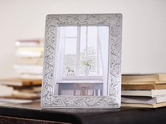 Rectangular Pewter Photo Frame - Width: 25 cm (9,8″) - Height: 31 cm (12,2″) - Picture Size: 18×24 cm - Frame Back Stand: Blue Alcantara - #pewter #rectangular #picture #photo #frame #peltro #cornice #fotografia #portafoto #rettangolare #zinn #bilderrahmen #fotorahmen #rahmen #étain #etain #cadre #peltre #tinn #олово #оловянный #gifts #giftware #home #housewares #homewares #decor #design #bottega #peltro #GT #italian #handmade #made #italy #artisans #craftsmanship #craftsman #primitive