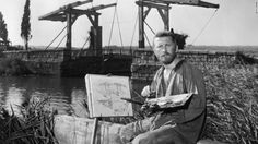"""Van Gogh, portrayed here by Kirk Douglas in the 1956 film """"Lust for Life,"""" led a famously troubled life, struggling with poverty and mental illness before his eventual suicide in 1890."""