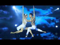 Russian children do acrobatics on a rope.Ekaterina Fedorova,8 y/o and Danil Kazarin,14 y/o - YouTube