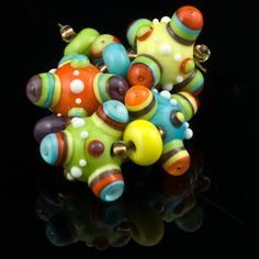 Jumping Jacks - Handmade Lampwork Glass Beads by ARJewellery / Ruth and Andy Harrison