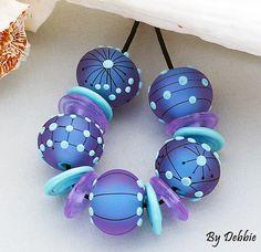 DSG Beads Handmade Organic Lampwork Glass Made To by debbiesanders