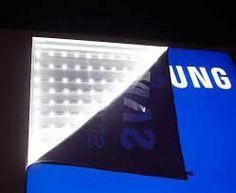 Backlight em lona para impressão digital. Trama de poliéster e cobertura de PVC. Signage Design, Showroom, Finger Print, Frosting, Fashion Showroom