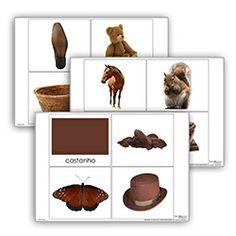 Livro de cor: castanho. Cada livro de cor inclui: 1carta com titulo 10 imagens