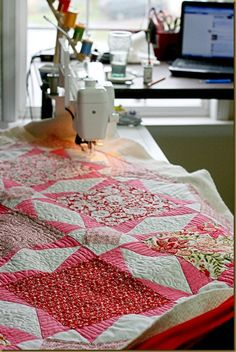 pretty machine quilt designs
