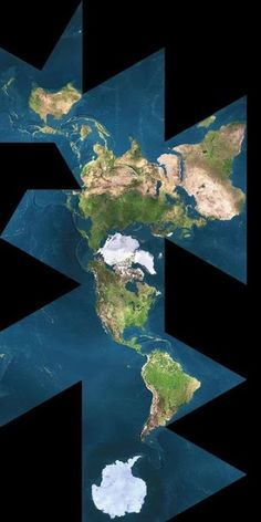 The earth true map... The ball made flat.