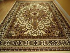 Large Ivory 8x11 Persian Style Rug Oriental Cream Area 8x10 Carpet Rugs