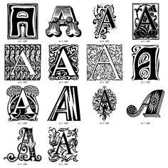 Decorative Letter A.13 Best Decorative Letters Images Lettering Alphabet