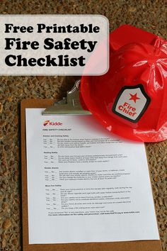 Free Printable: Fire Safety Checklist #printable #freebies #firesafety #fireprevention #safety #home