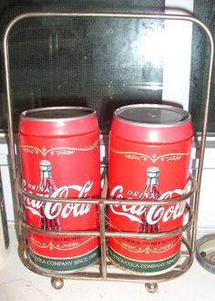 Coke salt n pepper shakers