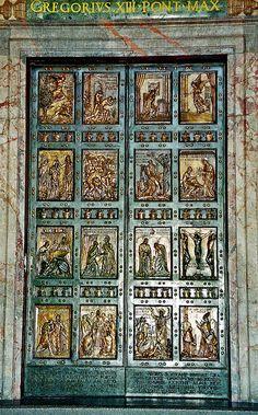 Holy Door - St Peters Basilica, Vatican City