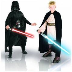 With the Star Wars Jedi vs. Sith Battle Chest, young Star Wars fans can dress up as a Jedi Knight or as Darth Vader. The set comes with a cardboard chest that opens to reveal a complete Jedi Knight costume and a complete Darth Vader costume.